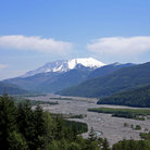 Picture - Mount St Helens and the Toutle River Valley, Washington.