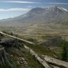 Picture - Rugged landscape in front of Mount St Helens.