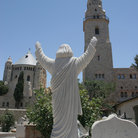 Picture - Statue over looking the Grave Yard on Mount Zion in Jerusalem.