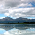 Picture - Mourne Mountains reflecting in the water.