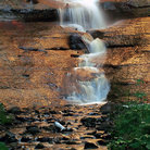 Picture - Close up view of Munising Falls.