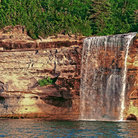 Picture - Spray falls at Munising.