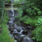 Picture - The lush setting at Alger Falls near Munising.