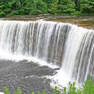 Picture - Upper Taquomenon falls near Munising.