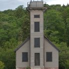 Picture - Adandoned lighthouse near Munising, Michigan.