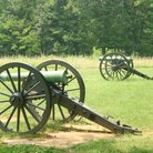 Picture - Civil War canons in Murfreesboro.