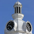 Picture - Clock on the Rutherford County Courthouse in Murfreesboro.