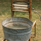 Picture - Historic washtub display in Cannonsburg Village.