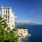 Picture - The Oceanographic Museum on the waterfront in Monaco.