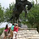 Picture - Statue at the Museum of Western Art in Kerrville, TX.