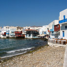 Picture - Waterfront in Mykonos.