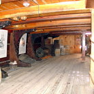 Picture - Interior of whaling Bark Charles W. Morgan at Mystic Seaport.