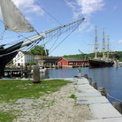 Picture - Ships in at Mystic Seaport.