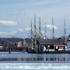 Picture - Mystic Seaport in Winter.