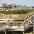 Picture - Boardwalks over the barrier dunes to Nags Head Beach.
