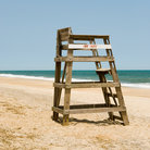 Picture - Lifeguard chair on beach, Nags Head, North Carolina.
