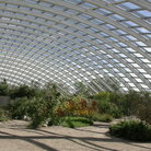 Picture - Geodesic Greenhouse at the Welsh Botanic Gardens.