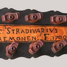 Picture - Head of Stradivarius guitar at the National Music Museum.