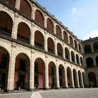 Picture - Balconies of the National Palace in Mexico City.