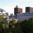 Picture - The City hall and the National Theatre in Oslo.