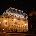 Picture - The National theater at night, Prague.