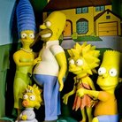 Picture - Simpsons display at the National Wax Museum, Dublin.