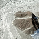 Picture - A figure in the hillside at the Nazca Lines site.
