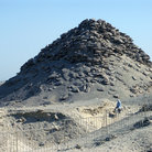 Picture - Early pyramids in Saqqara, were mounds of rubble to protect the dead from animals.