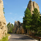 Picture - The dramatic rock spires along the Needles Highway.