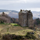 Picture - Neidpath Castle and surrounding countryside.