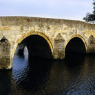 Picture - Old bridge over the River Nene in Northamptonshire.