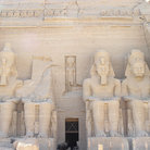 Picture - Statues of pharaoh Ramses II at Abu Simbel Temple.