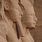 Picture - The Sun Temple of Abu Simbel with 20-metre heigh colossi of Ramses.