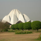 Picture - The Bahai House of Worship or Lotus Temple in Delhi.