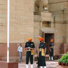 Picture - Guards at India Gate.