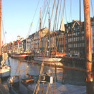 Picture - Sunrise on Copenhagen's Waterfront area,known as Nyhavn.