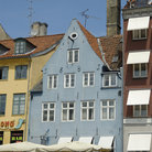 Picture - One of the old buildings in the Nyhavn in Copenhagen.