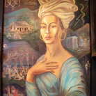 Picture - Painting of Marie Laveau by Charles M. Gandolfo, New Orleans Historic Voodoo Museum.