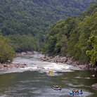 Picture - Rafting on the New River in West Virginia.