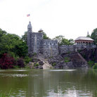 Picture - Belvedere Castle and lake in Central Park, New York.