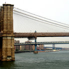 Picture - Brooklyn, Manhattan, and Williamsburg bridges, New York.