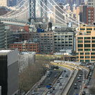 Picture - Shot of the Brooklyn Bridge from Manhattan.