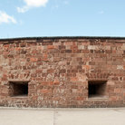 Picture - The walls of Castle Clinton National Monument in New York City.