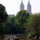 Picture - Boating on a lake in Central Park in New York City.