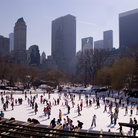 Picture - Ice skating in Central Park in New York City.