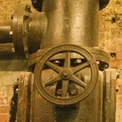 Picture - Old cast iron water valve at Chelsea Market in New York City.
