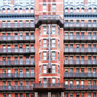 Picture - Front view of the Chelsea Hotel in New York City.
