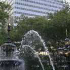 Picture - Nathan Hale Park at City Hall in New York.