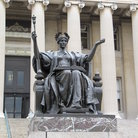Picture - A statue on the campus of Columbia University in New York City.