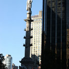 Picture - Columbus Statue and Skyscraper, Columbus Circle, New York City.